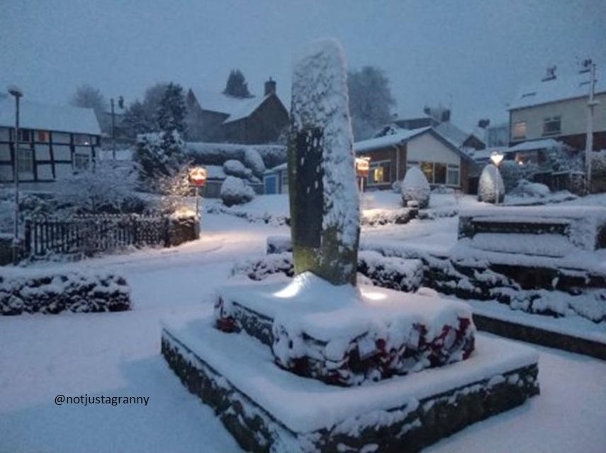 snow in wales, snowing in the uk, winter wonderland,