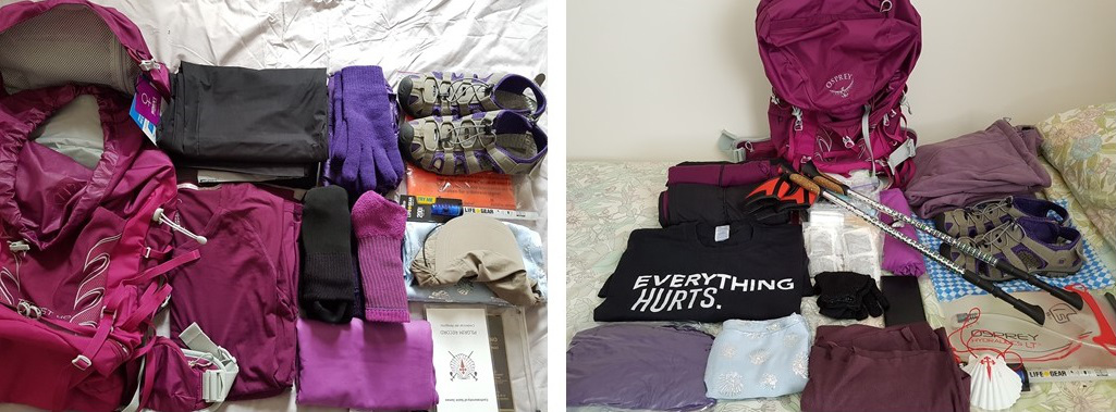 packing for the camino, how to pack a backpack, camino de santiago, long distance walking, portuguese coastal route, porto to santiago, solo travel, women who travel on their own, baby boomers travel