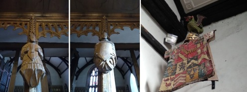 features inside St Nicholas Church, Montgomery, Powys, Wales