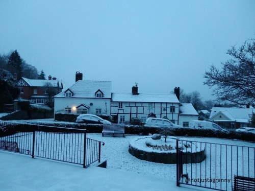 snow in wales, winter weather, villages of wales, travel diaries