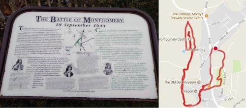 map my walk, montgomery castle powys wales, castles of the uk, castle ruins, welsh castles, walk 1000 miles, travel diaries, walks in the uk, country walking,