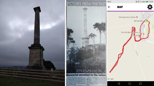 War Memorial Montgomery, Powys, Wales, welsh countryside, war memorial montgomery, places to see in wales,