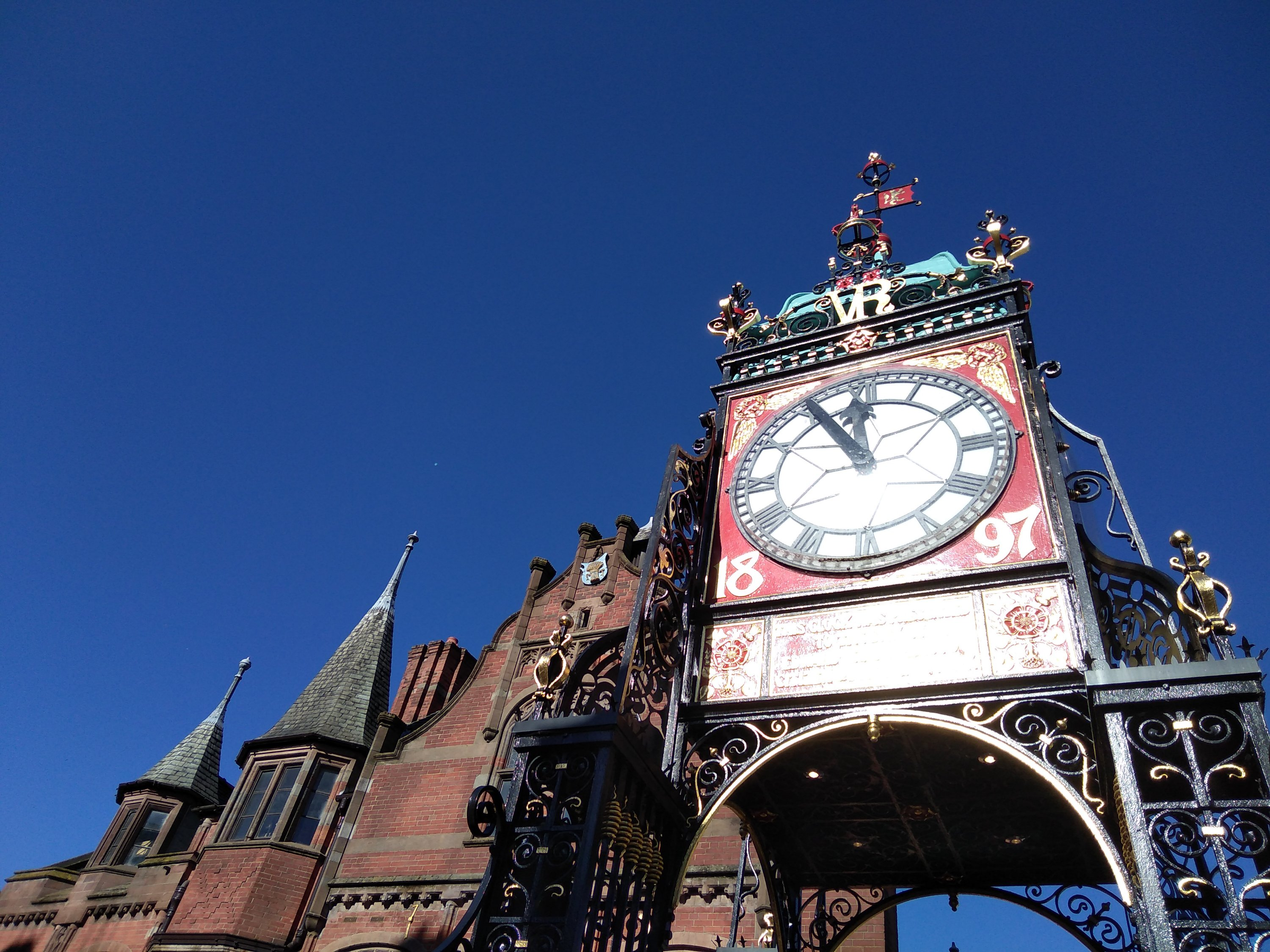 The Eastgate Clock in Chester