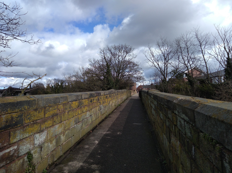 Roman city walls in Chester