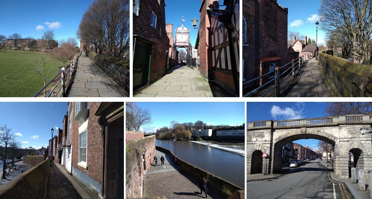 chester, roman fort, chesters clock, roman city walls chester, explore chester, things to do in chester, chester high cross, britains oldest shopping arcade. black and white buildings of chester, domesday book town, chester city walls