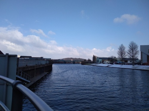 beast from the east, snow in nottingham, river trent, tavel diaries