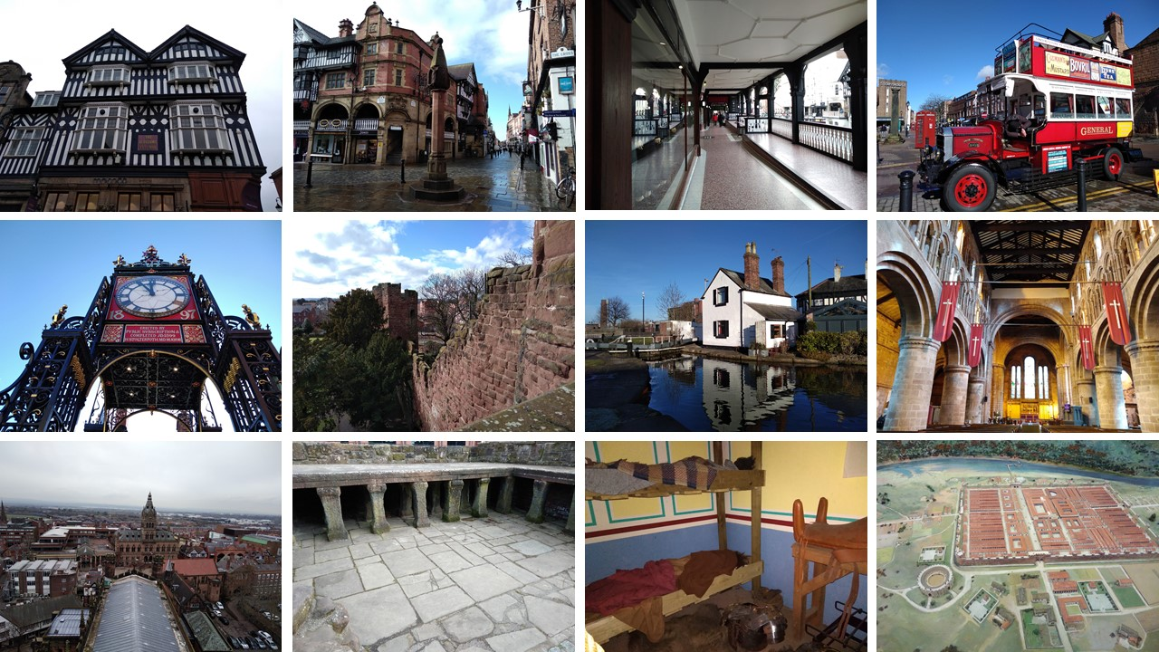chester, eastgate clock, project 101, not just a granny travels, places of the uk, domesday book towns