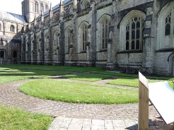 winchester cathedral, city of winchester, the pilgrims way, st swithuns shrine, queen eleanors garden, old minster winchester