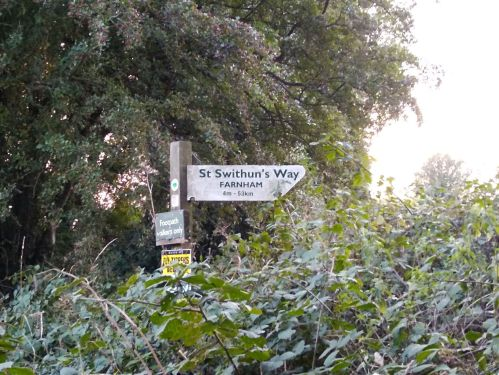 walking the pilgrims way, map my walk, winchester to canterbury along the pilgrims way, long distance walks uk, solo walking for women, domesday book villages, day 3 alton to farnham