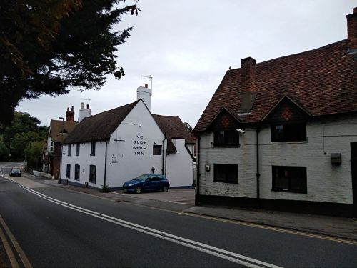 ye olde ship inn st catherines guildford, walking the pilgrims way, the pilgrims way winchester to canterbury, long distance walks england, solo walking for women