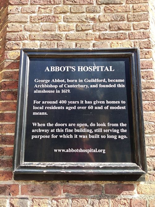george abbot guildford, the three pigeons guildford, history of guildford, walking the pilgrims ways, long distance walks of england