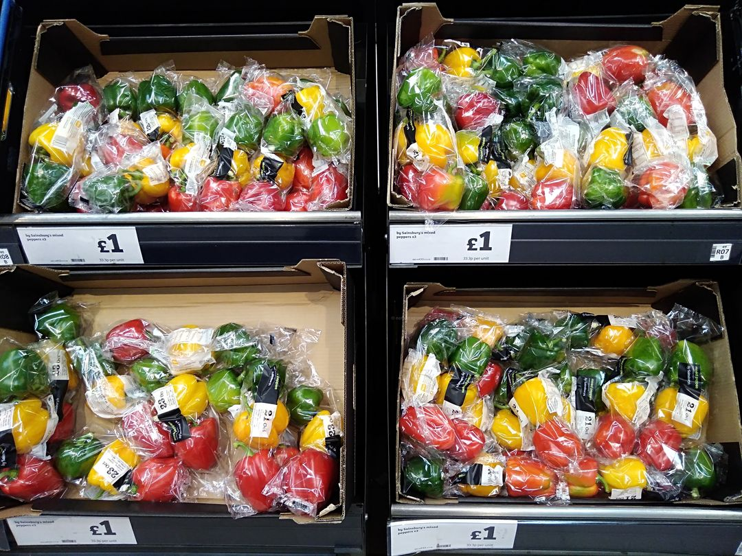 plastic pollution in the supermarkets