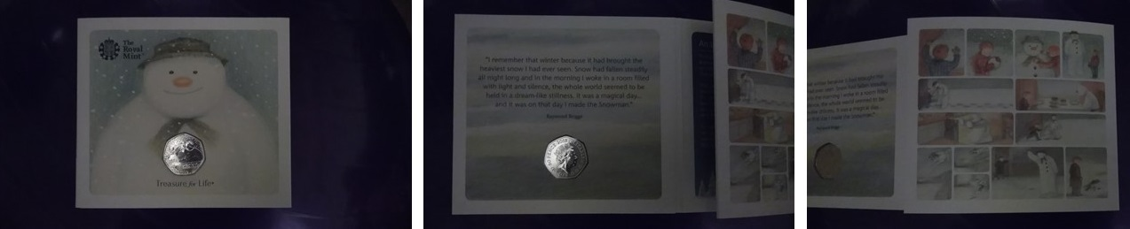 the snowman 40th anniversary coin