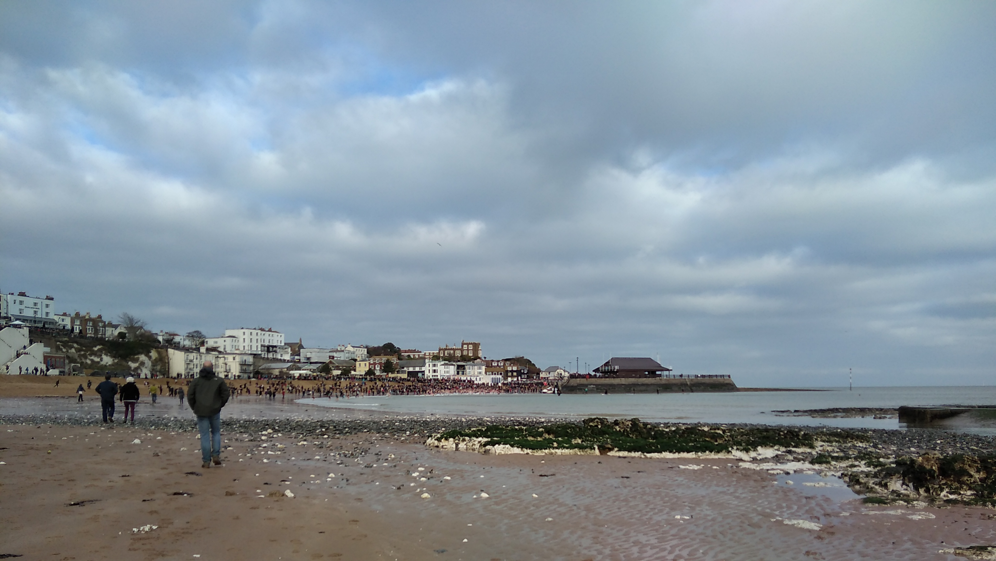 walk 1000 miles, new years day swim broadstairs, viking bay, kentish coast