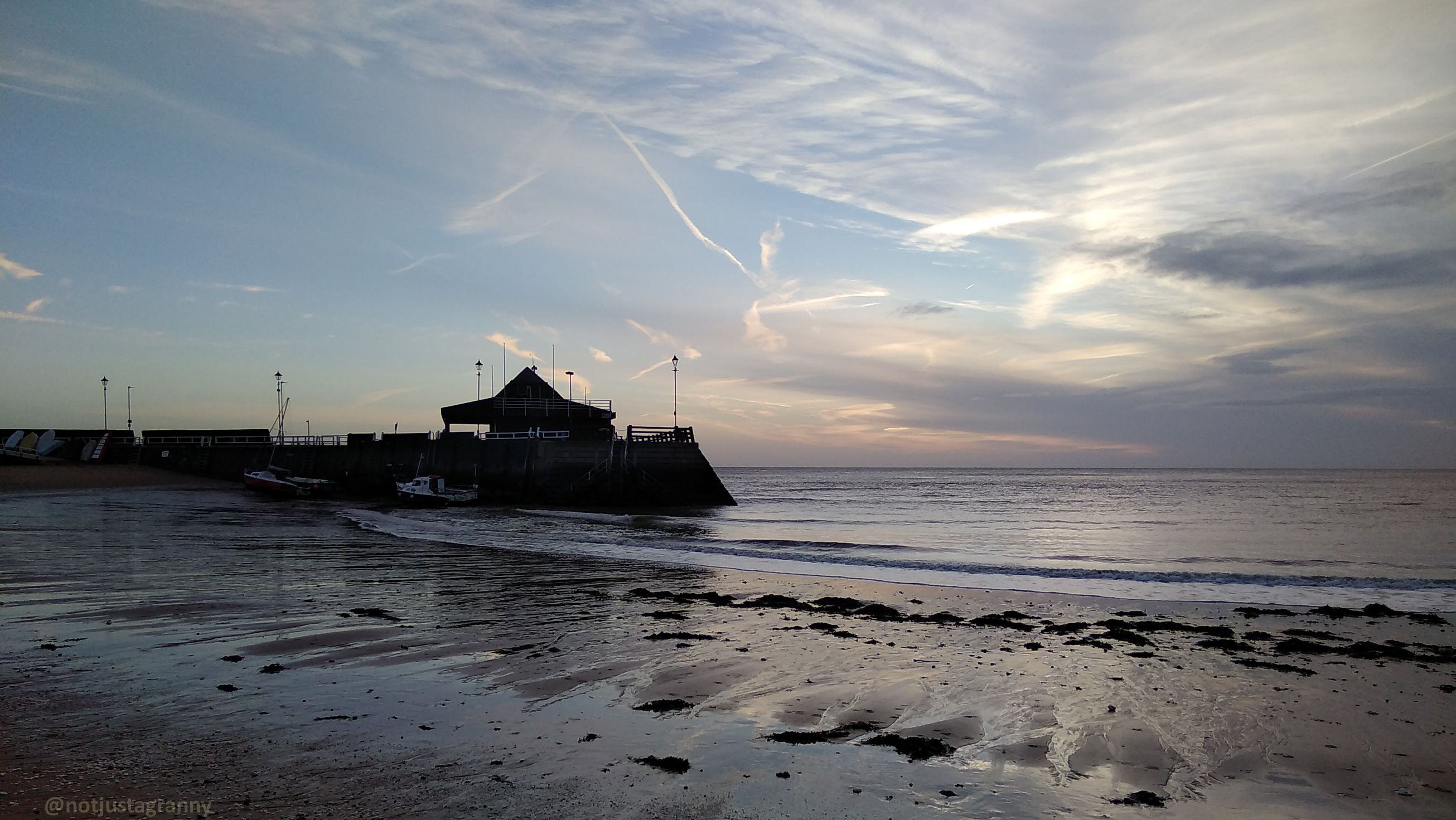 sunrise on the isle of thanet, flood warnings for kent, amy johnson story herne bay
