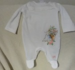 peanut is on the way, first grandchild, peter rabbit, baby layette