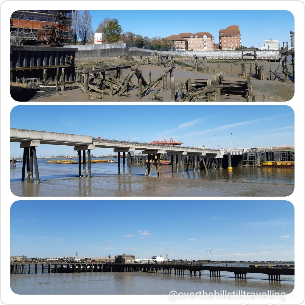 jetties jutting out into the river thames - walking the thames path