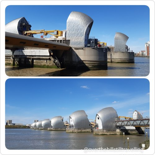 The Thames Barrier - walking the Thames Path