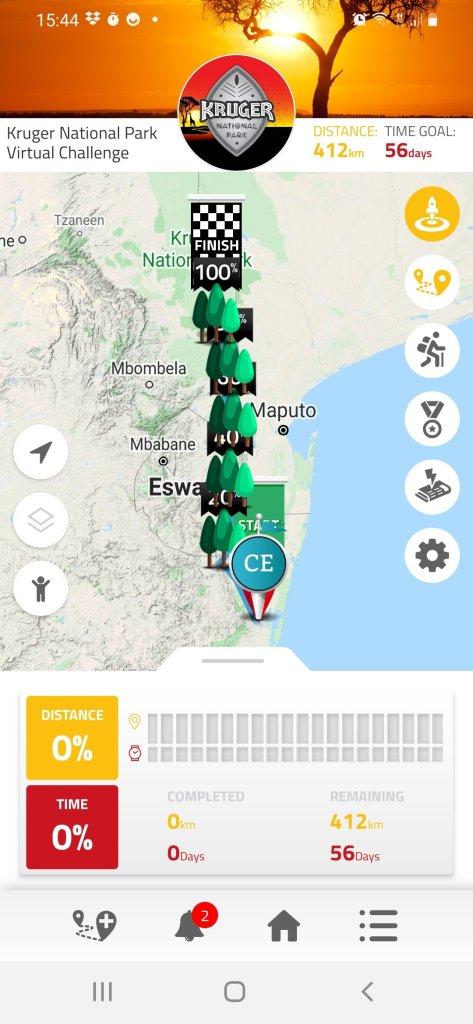 Kruger National Park virtual challenge